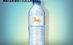 005 Fantastic Bottle Label Template Free Design  Mini Wine Water Birthday Champagne Download