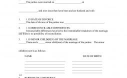 005 Fantastic Divorce Settlement Agreement Template Sample  New York Marital Uk South Africa