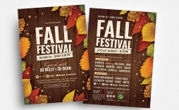 005 Fantastic Fall Festival Flyer Template Inspiration  Free