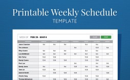 005 Fantastic Free Employee Scheduling Template Concept  Templates Weekly Work Schedule Printable Lunch