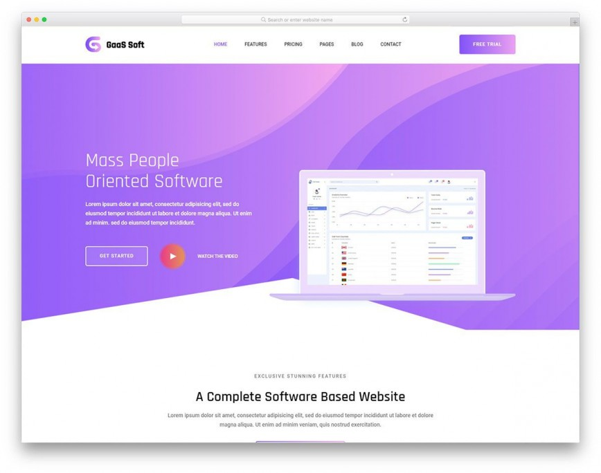 005 Fantastic Free Landing Page Template Bootstrap Idea  3 Download