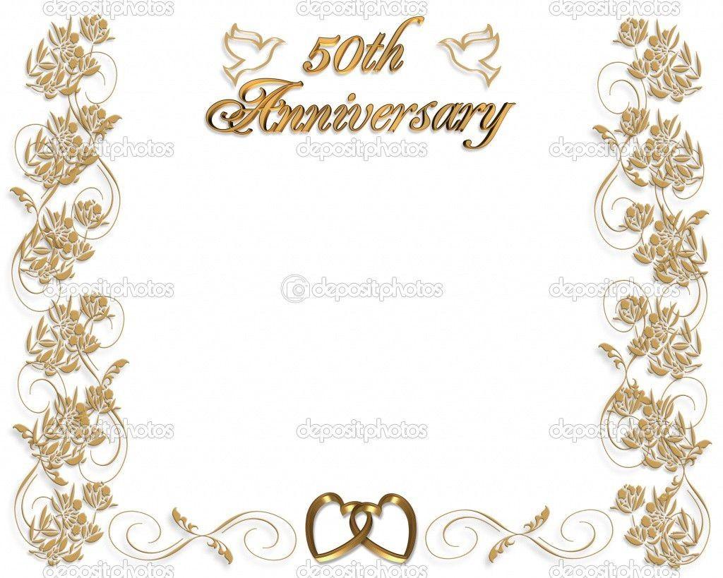 005 Fantastic Free Printable 50th Wedding Anniversary Invitation Template Design Large