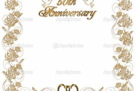 005 Fantastic Free Printable 50th Wedding Anniversary Invitation Template Design