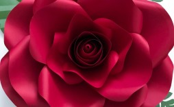005 Fantastic Large Rose Paper Flower Template Free Example