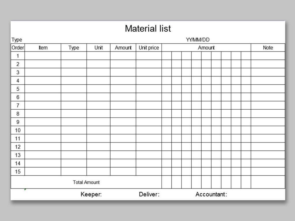 005 Fantastic Office Supply List Template Example  Order Printable MedicalLarge