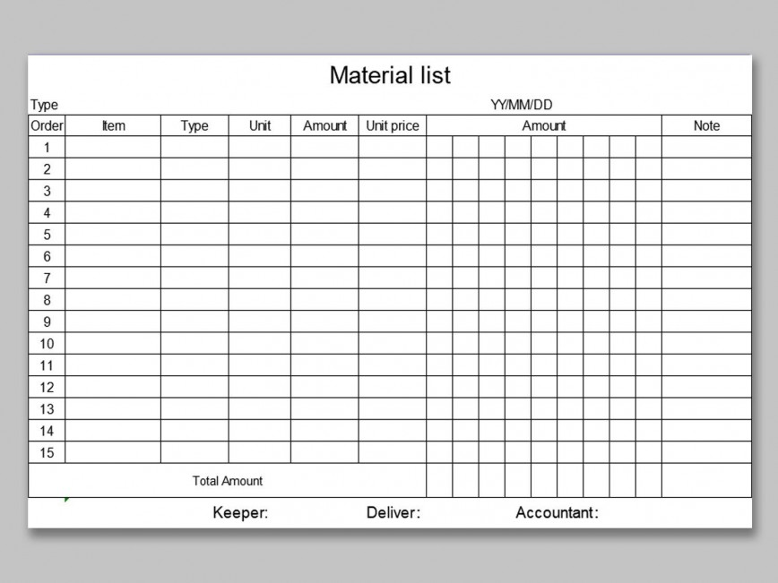 005 Fantastic Office Supply List Template Example  Order Word Printable Excel