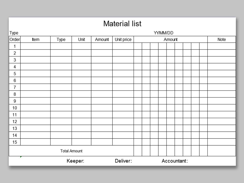 005 Fantastic Office Supply List Template Example  Order Printable MedicalFull