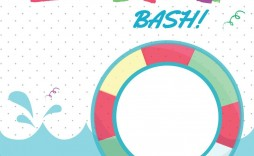 005 Fantastic Pool Party Invitation Template Free High Definition  Downloadable Printable Swimming