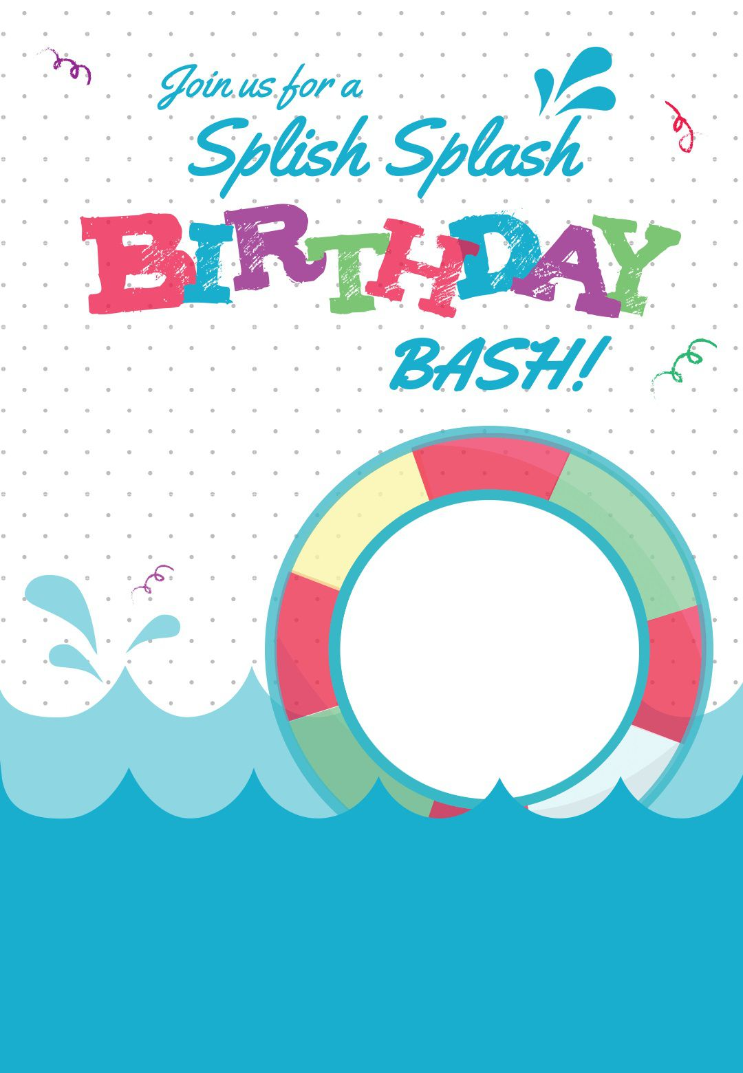 005 Fantastic Pool Party Invitation Template Free High Definition  Downloadable Printable SwimmingFull