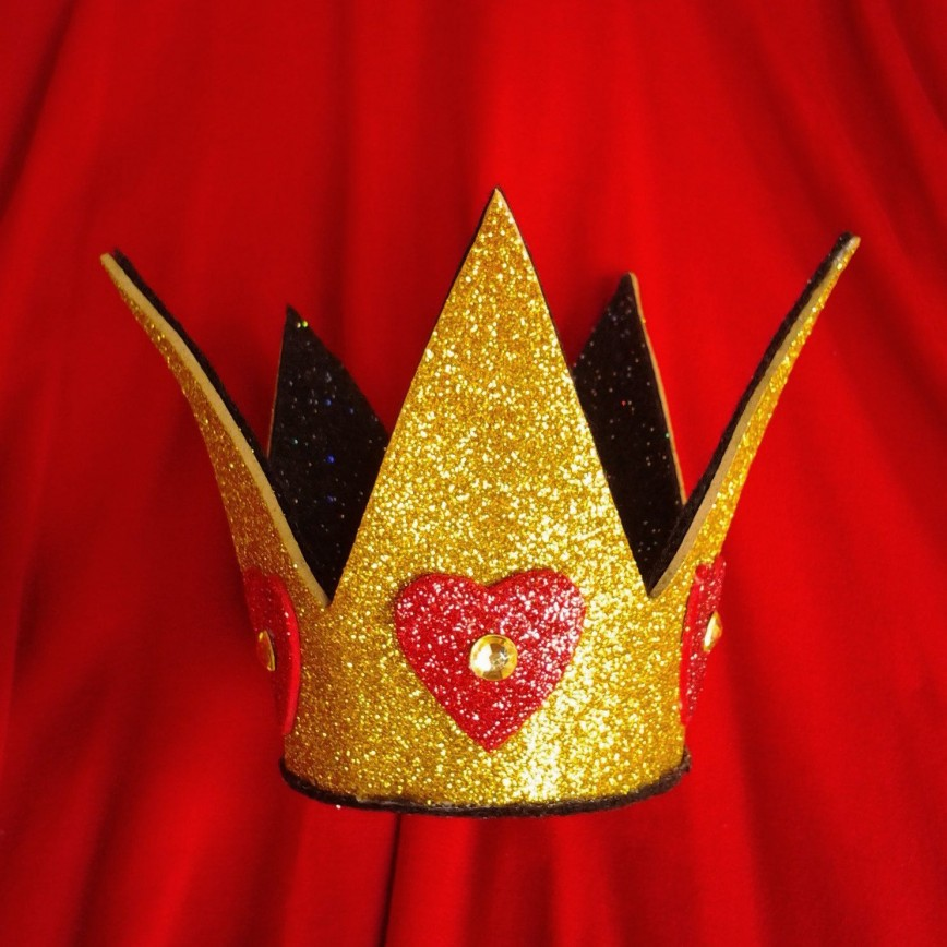 005 Fantastic Queen Of Heart Crown Pattern Picture  Printable Template Headband Diy