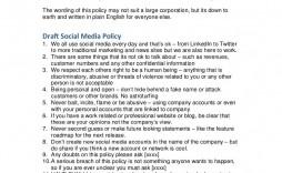 005 Fantastic Social Media Policy Template Inspiration  Example Nz Australia Free Uk
