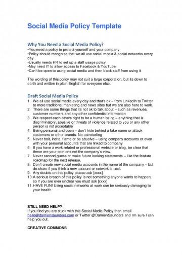 005 Fantastic Social Media Policy Template Inspiration  2020 Australia Nonprofit360