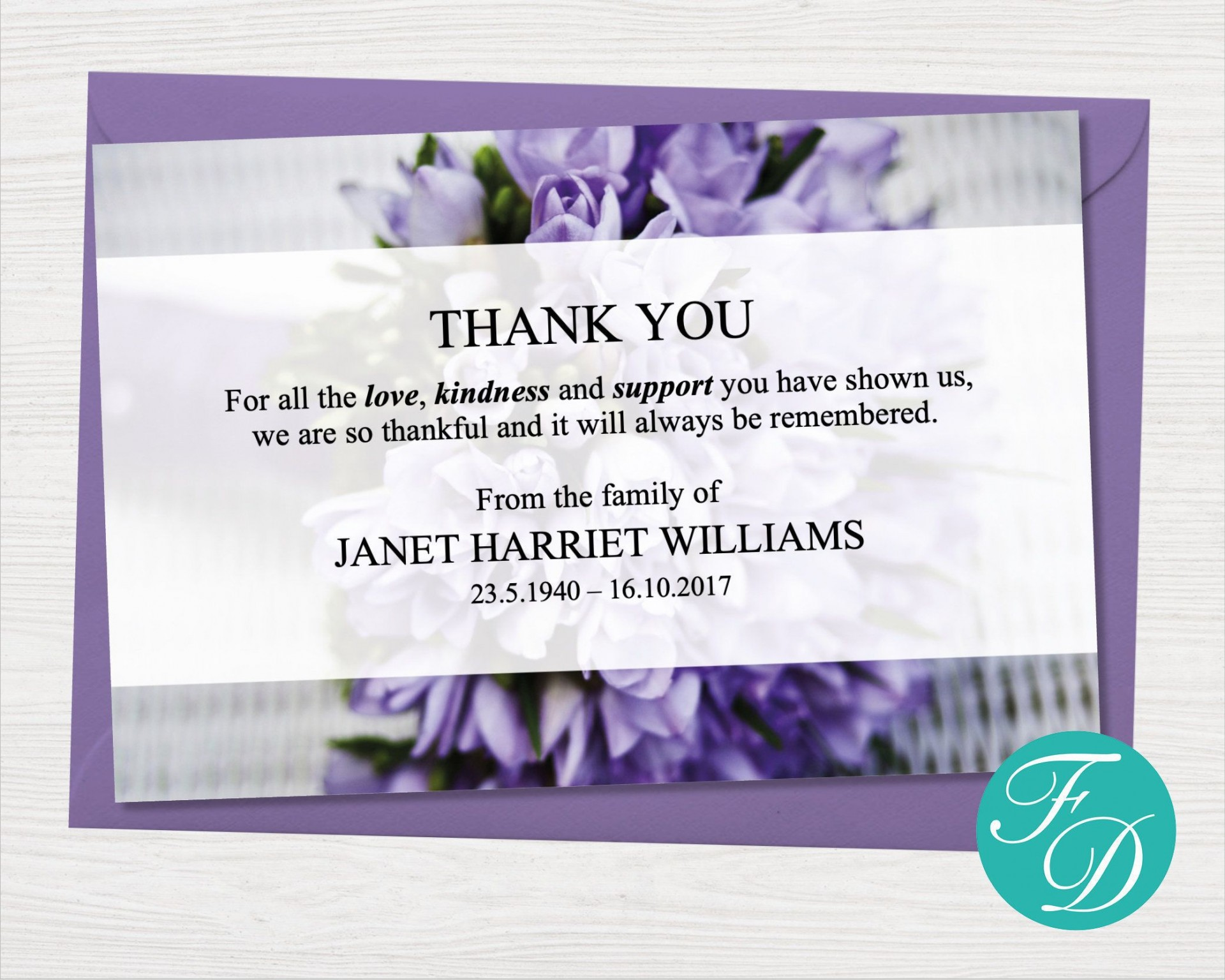 005 Fantastic Thank You Note Template Microsoft Word Example  Card Free Funeral Letter1920