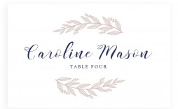 005 Fantastic Wedding Name Card Template Example  Table Free Place Escort