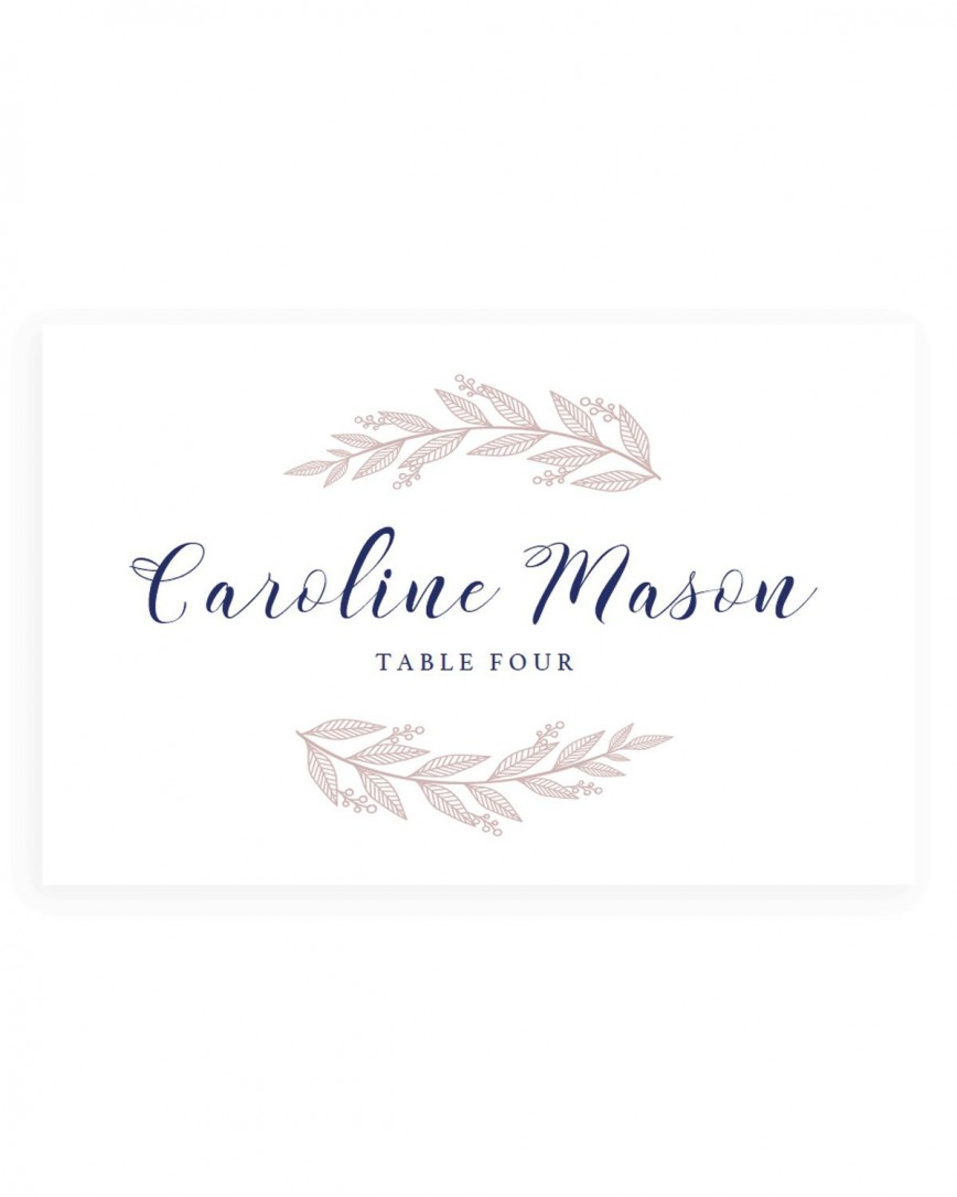 005 Fantastic Wedding Name Card Template Example  Free Download Design Sticker Format868