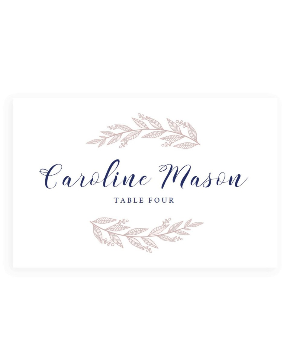 005 Fantastic Wedding Name Card Template Example  Free Download Design Sticker Format960