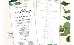 005 Fantastic Wedding Order Of Service Template Picture  Pdf Publisher Microsoft Word