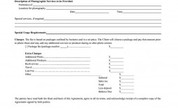 005 Fantastic Wedding Photographer Contract Template Concept  Free Photography Uk