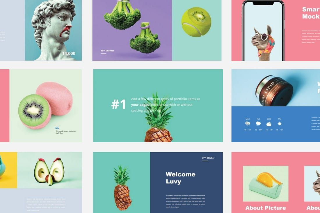 005 Fascinating Best Powerpoint Template Free Inspiration  Busines Download White Background 2019Full