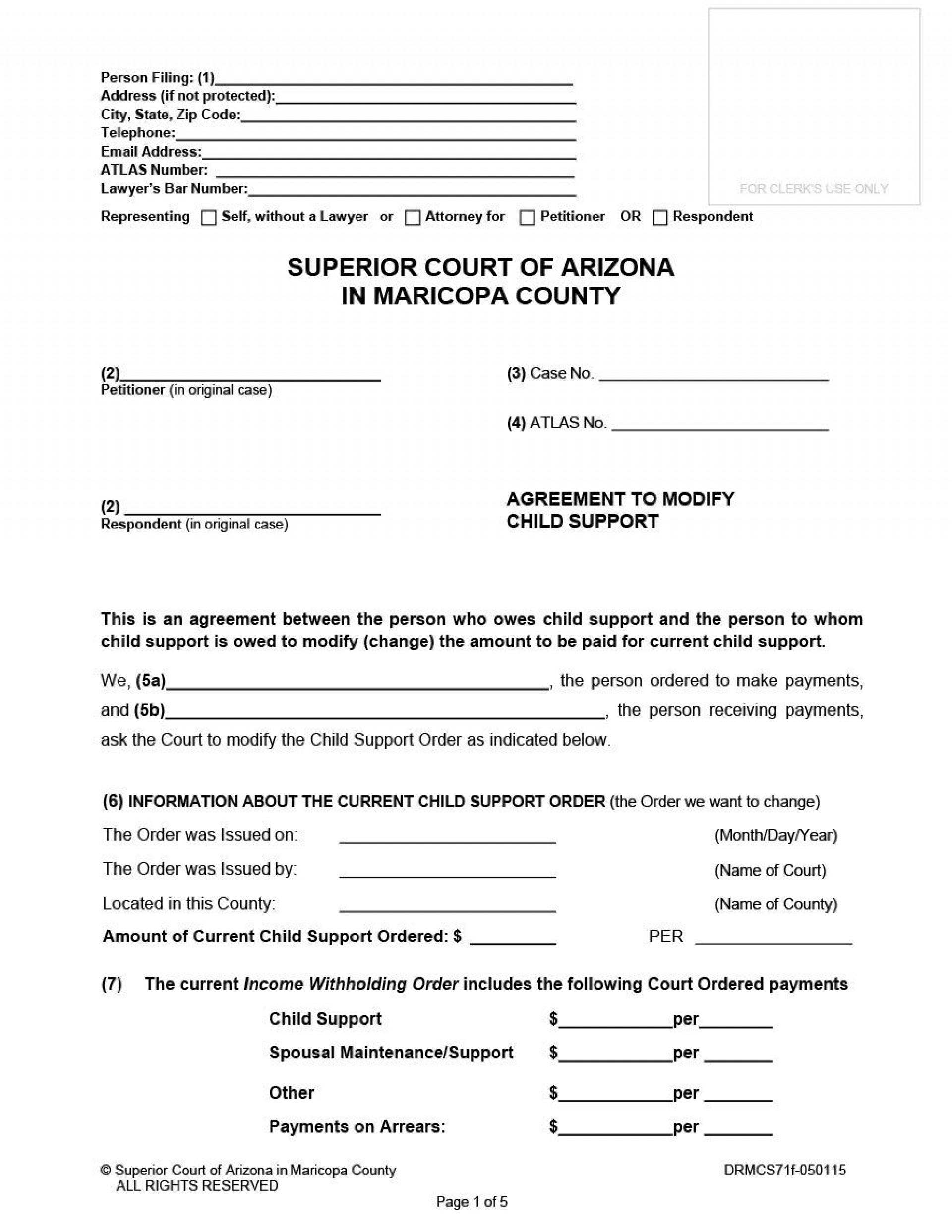 005 Fascinating Child Support Agreement Template Sample  Australia Bc Alberta1920