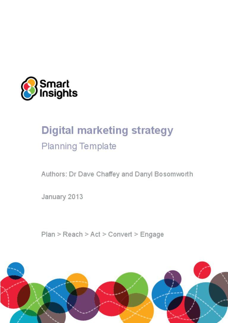 005 Fascinating Digital Marketing Busines Plan Example Idea  Template Free Sample PdfFull
