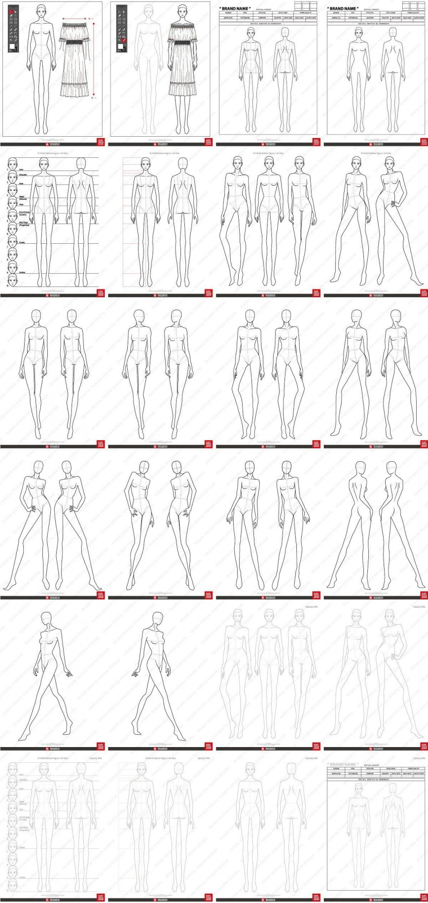 Fashion Design Template To Print Addictionary