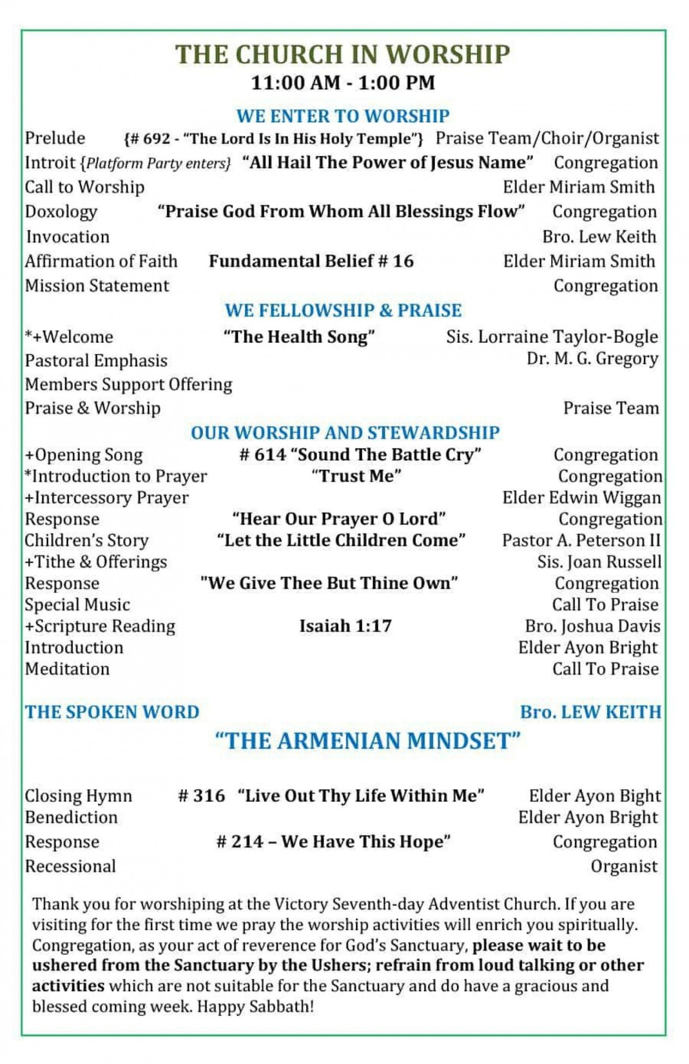 005 Fascinating Free Church Program Template Doc High Resolution 1400