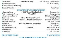 005 Fascinating Free Church Program Template Doc High Resolution