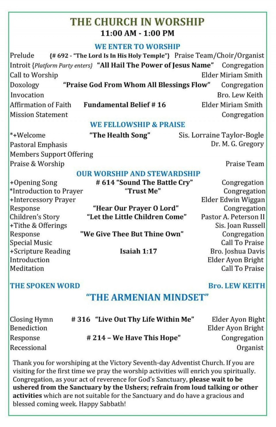 005 Fascinating Free Church Program Template Doc High Resolution 960