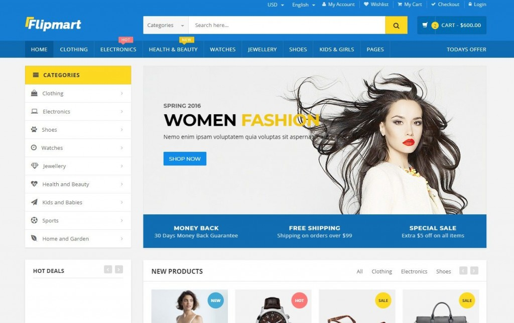 005 Fascinating Free Ecommerce Website Template Picture  With Shopping Cart Admin Panel BootstrapLarge