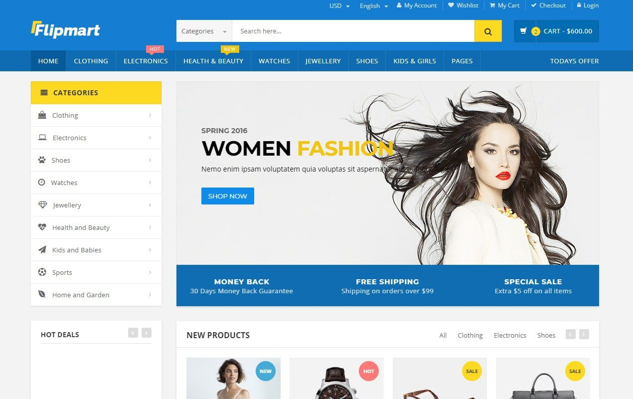 005 Fascinating Free Ecommerce Website Template Picture  With Shopping Cart Admin Panel BootstrapFull