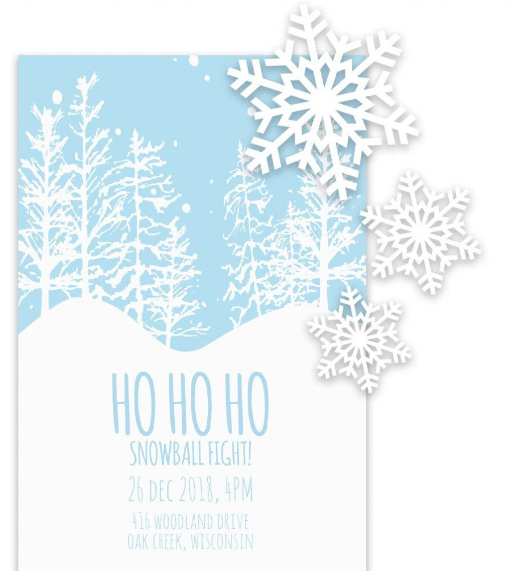 005 Fascinating Free Holiday Invitation Template Example  Online Party ChristmaLarge