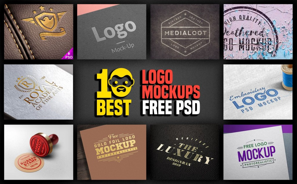 005 Fascinating Free Logo Template Psd Idea  Photoshop MockupLarge