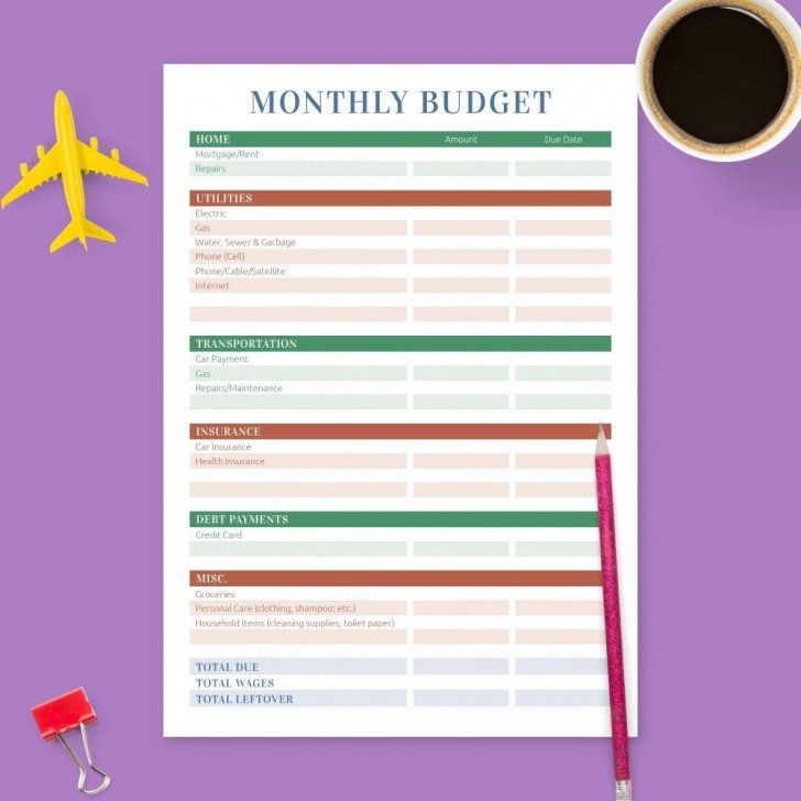 005 Fascinating Free Monthly Budget Template Inspiration  Household Excel Expense Report Download728