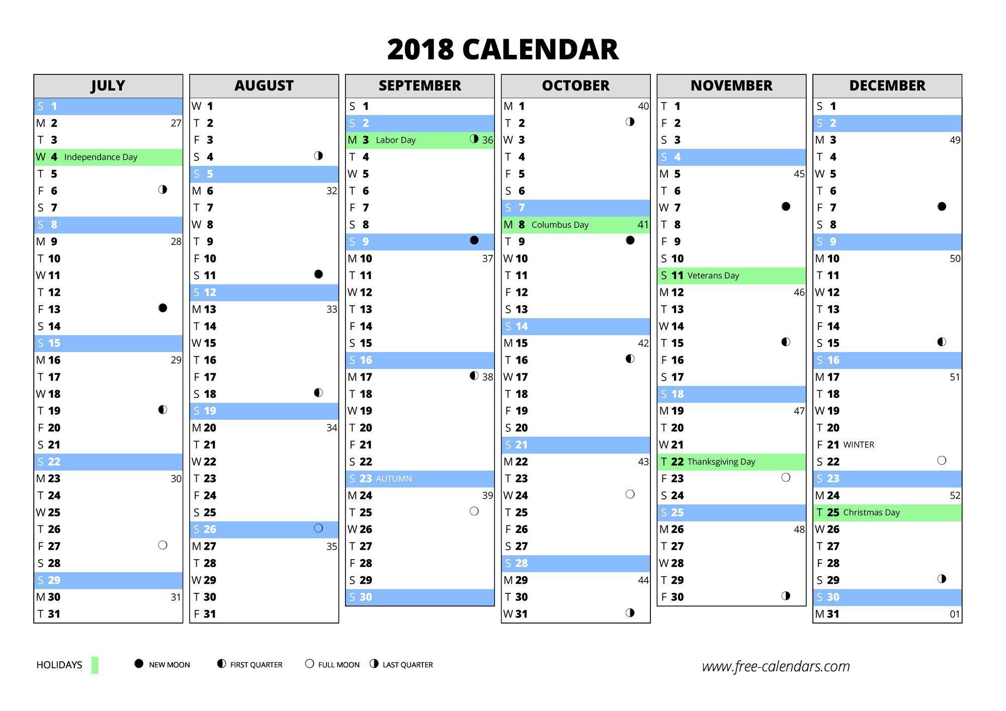 005 Fascinating Free Printable Weekly Calendar Template 2018 Design Full