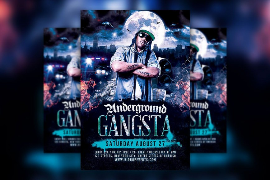 005 Fascinating Hip Hop Flyer Template Highest Clarity  Templates Free Psd Download