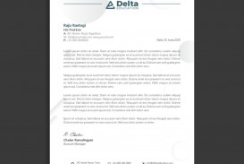 005 Fascinating Letterhead Template Free Download Cdr Concept