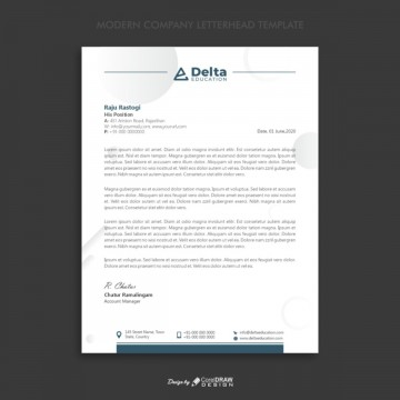 005 Fascinating Letterhead Template Free Download Cdr Concept 360