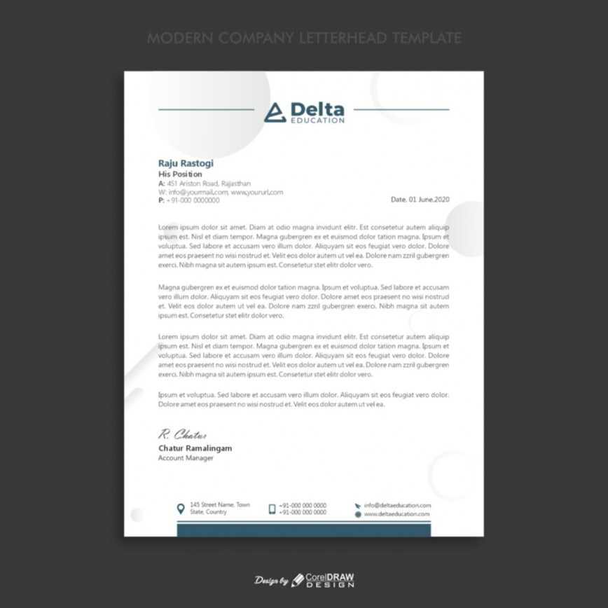005 Fascinating Letterhead Template Free Download Cdr Concept 868