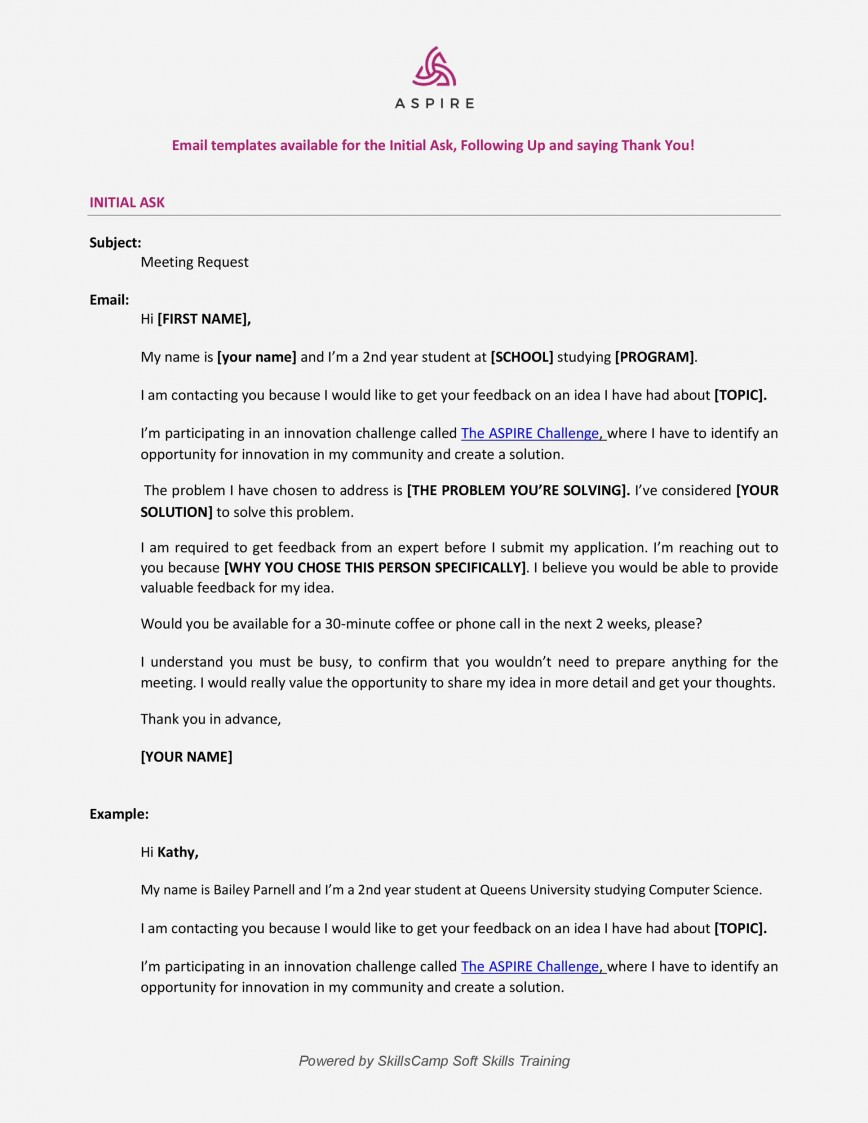 Meeting Request Email Template ~ Addictionary