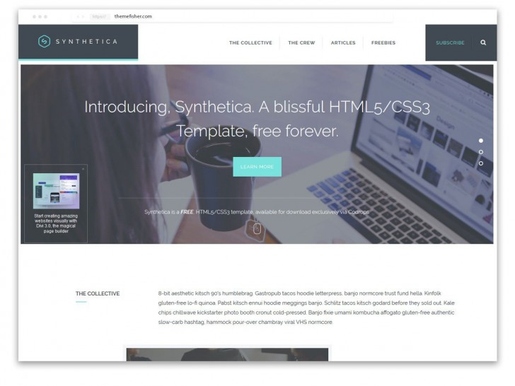 005 Fascinating One Page Website Template Html5 Responsive Free Download Highest Quality 728