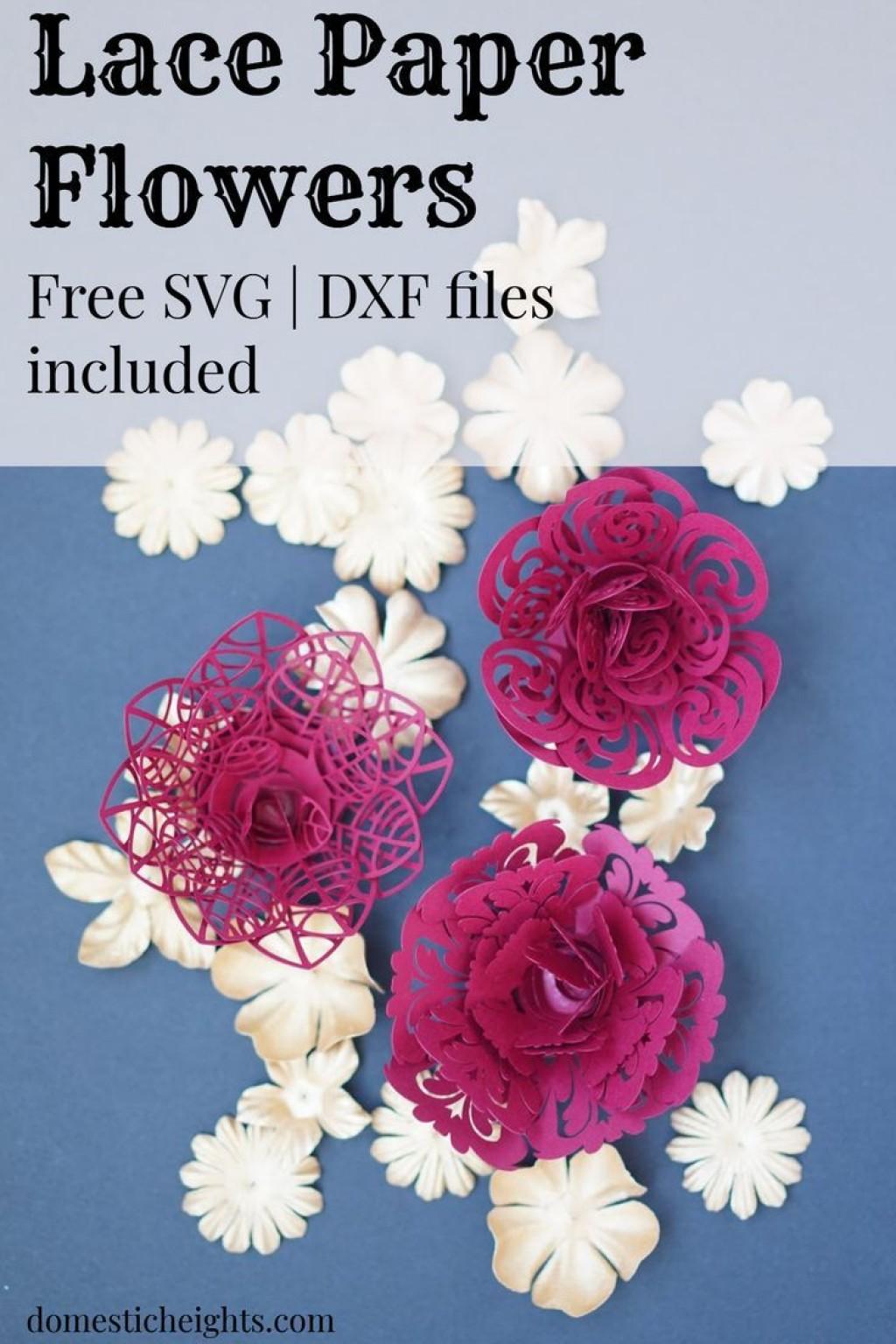 005 Fascinating Paper Flower Template Free Sample  Rolled Svg Rose Cricut PdfLarge