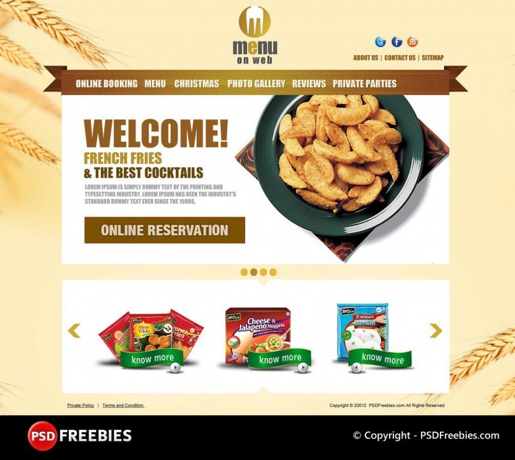 005 Fascinating Restaurant Menu Template Free Download Psd Photo  DesignLarge