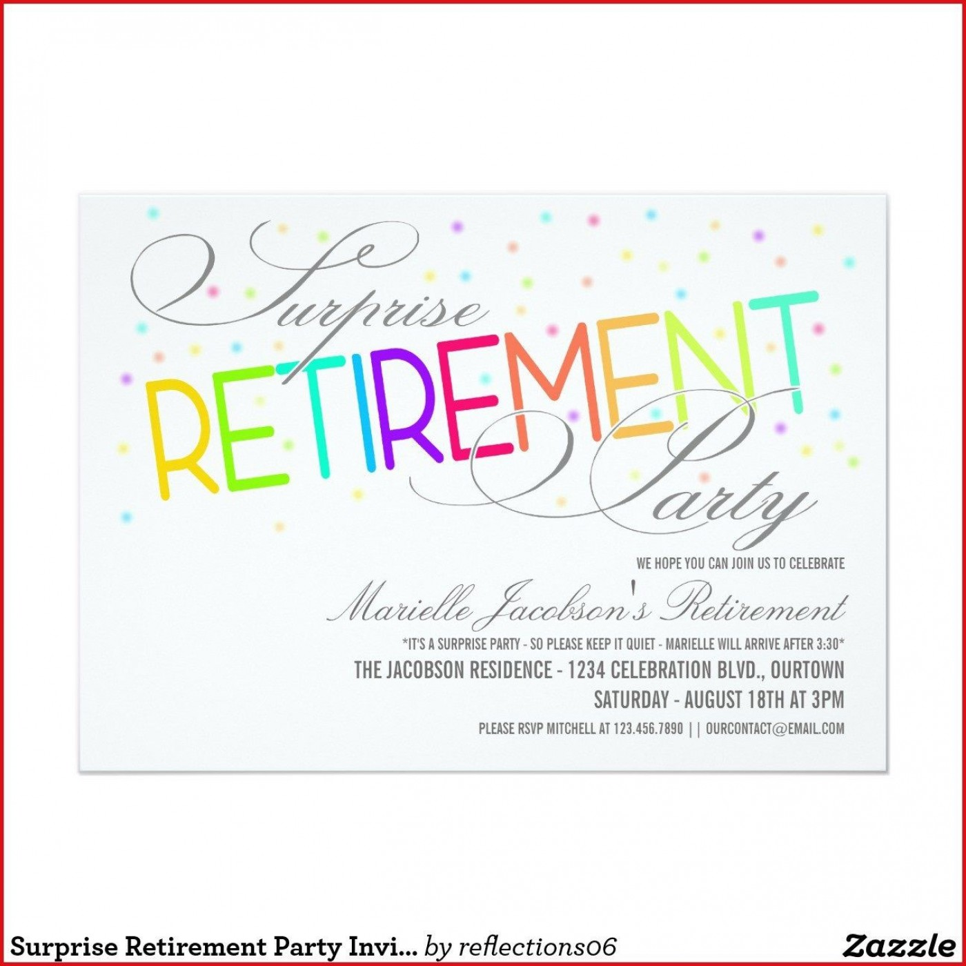 005 Fascinating Retirement Party Invitation Template Free Word Sample  M1400