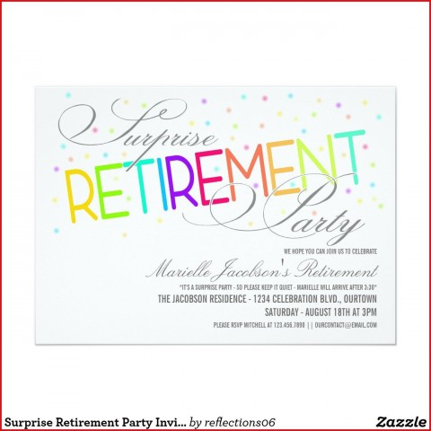 005 Fascinating Retirement Party Invitation Template Free Word Sample  M480