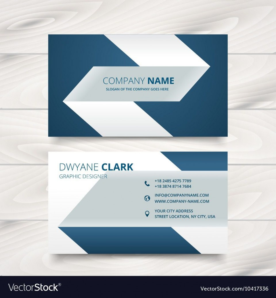 005 Fascinating Simple Visiting Card Design Inspiration  Calling Busines Template Free In Photoshop960