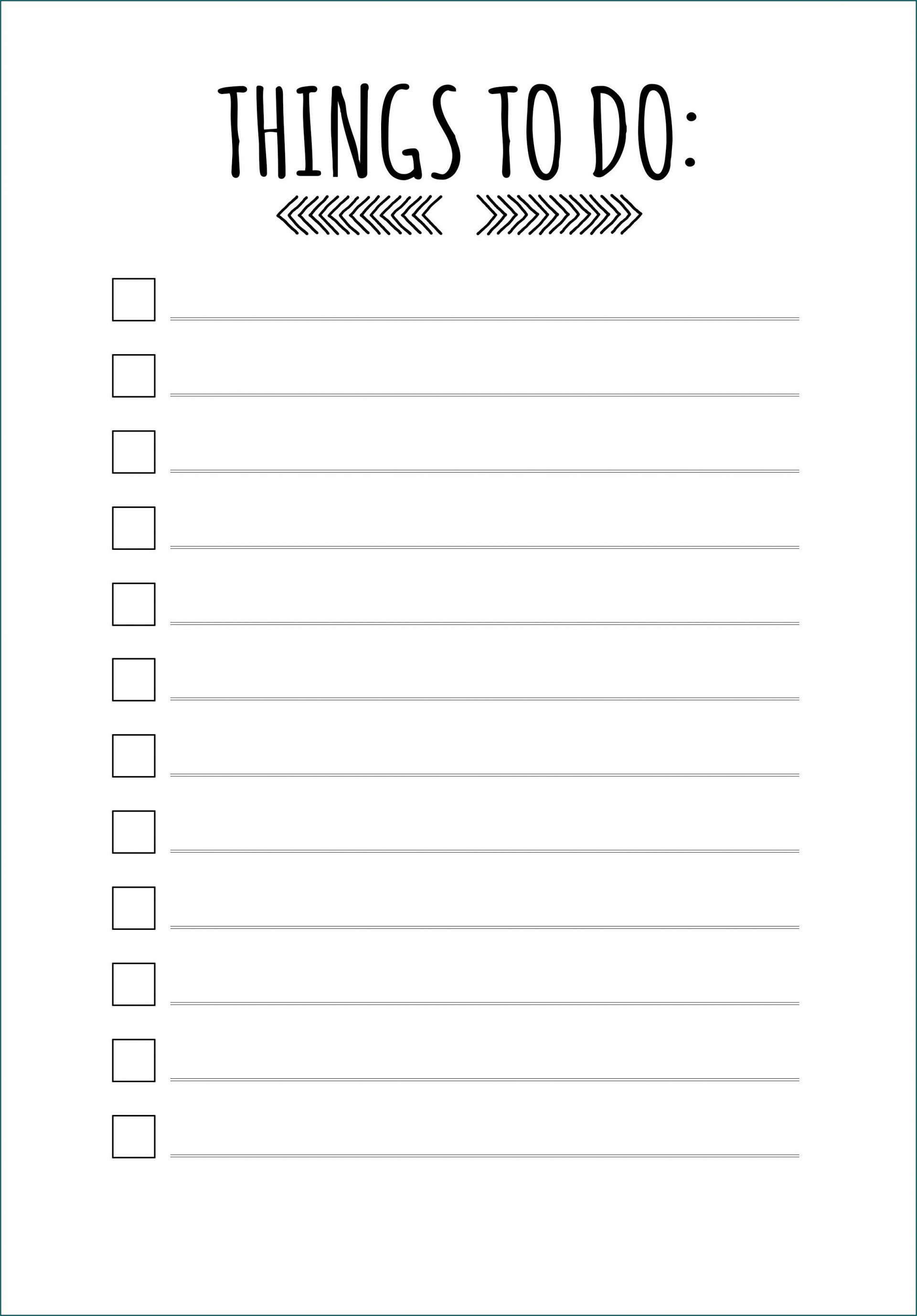 005 Fascinating Thing To Do List Template Sample 1920