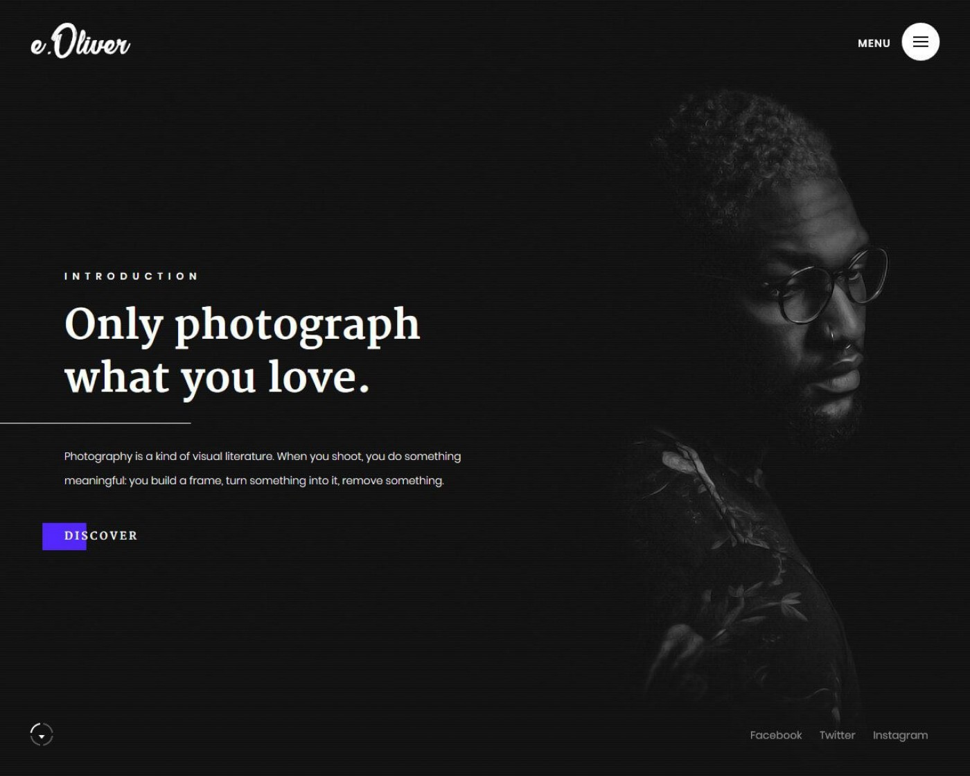005 Fascinating Web Template For Photographer Image  Photography1400
