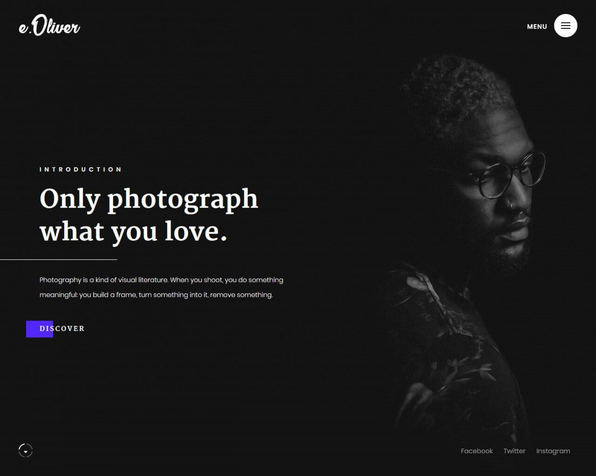 005 Fascinating Web Template For Photographer Image  Photography1920