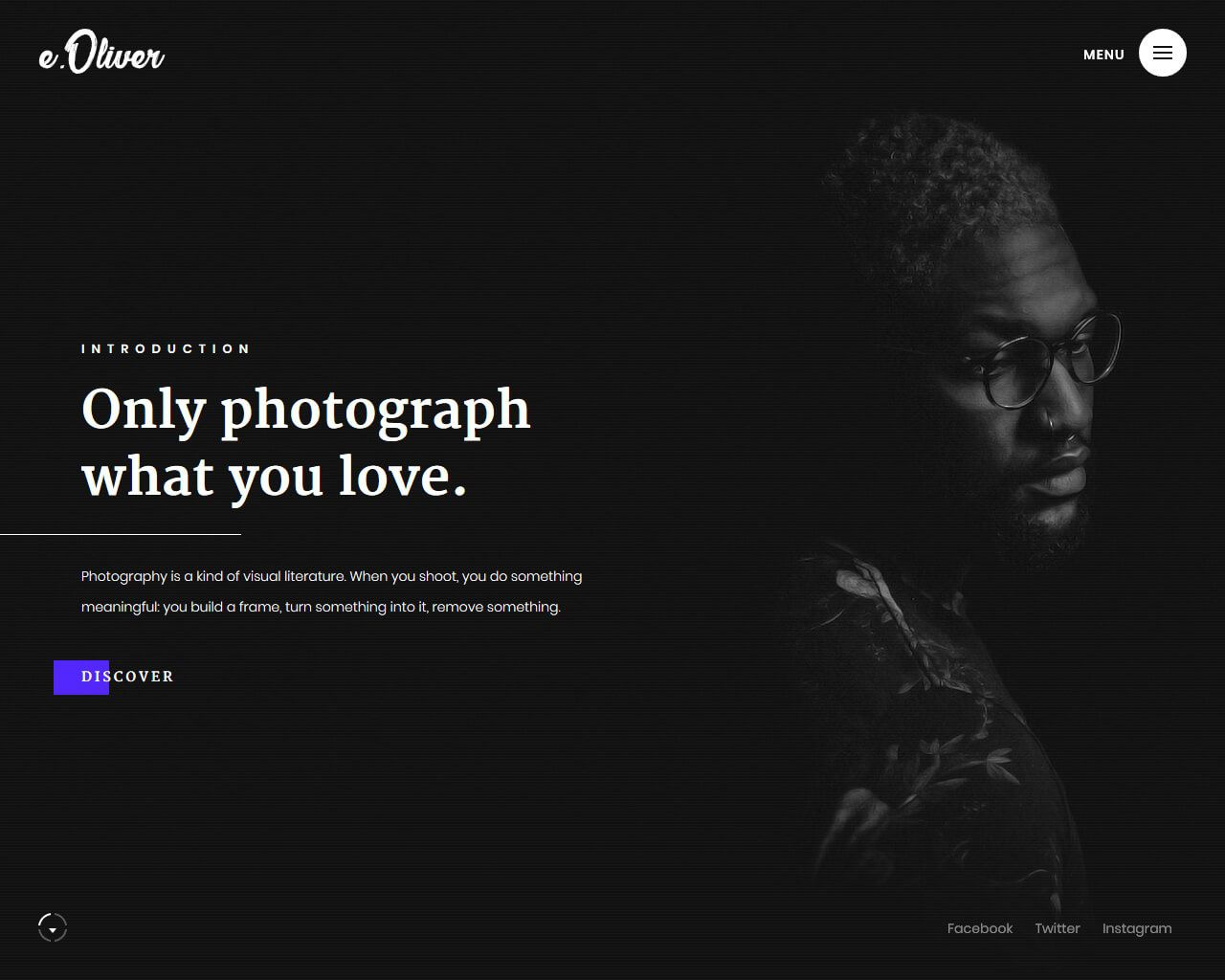 005 Fascinating Web Template For Photographer Image  PhotographyFull